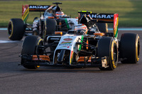 Sergio Perez, Sahara Force India F1 VJM07 leads team mate Nico Hulkenberg, Sahara Force India F1 VJM07