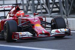 Kimi Raikkonen, Ferrari F14-T running sensor equipment