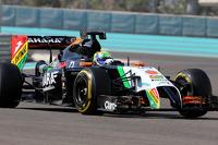 Spike Goddard, Force India F1 Team testing the info wing