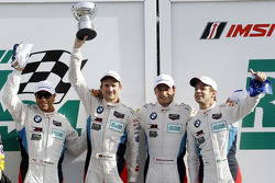 GTLM podium: second place Bill Auberlen, Dirk Werner, Augusto Farfus, Bruno Spengler
