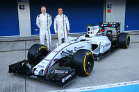 (L to R): Valtteri Bottas, Williams and team mate Felipe Massa, Williams unveil the Williams FW37