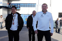 (L to R): Yasuhisa Arai, Honda Motorsport Chief Officer with Eric Boullier, McLaren Racing Director