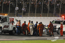 Brian Vickers out of the car
