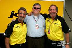Eddie Jordan with David Marron from B&H and Ian Phillips