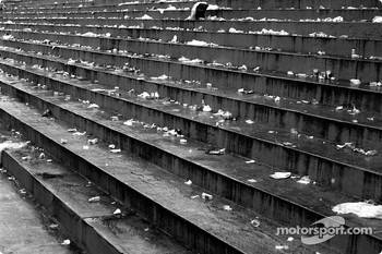 Rubbish left behind in Interlagos grandstands