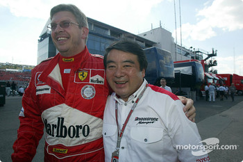 Ross Brawn and Bridgestone's Hirohide Hamashima