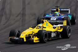 Giorgio Pantano and Felipe Massa