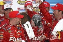 Victory lane: Bud shower for Dale Earnhardt Jr.