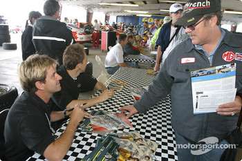 Autograph session: Wayne Taylor and Max Angelelli