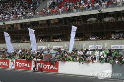 Celebrations at Audi Sport Japan Team Goh