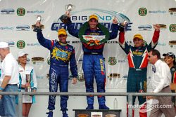 Paul Radisich, Marcos Ambrose and Russell Ingall share the podium