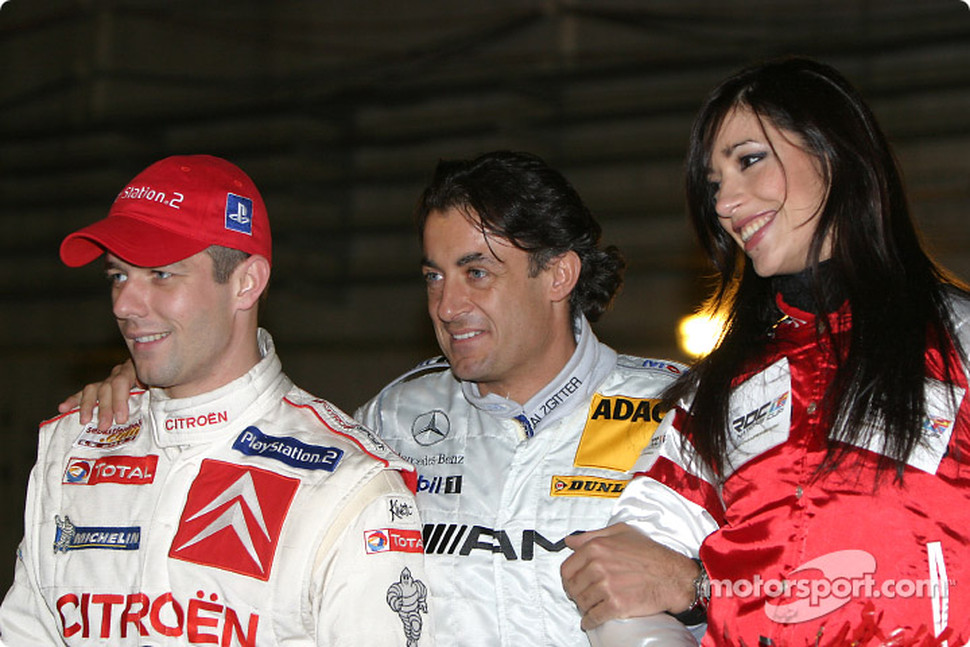 Sbastien Loeb and Jean Alesi
