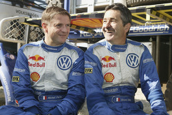 Volkswagen team presentation: codriver Michel Périn with Volkswagen works driver Bruno Saby