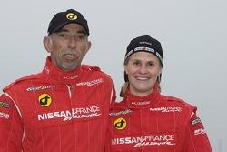 Nissan Dessoude team presentation: co-driver Bernard Irissou and driver Isabelle Patissier