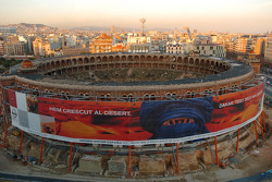 Vintage stadium in Barcelona
