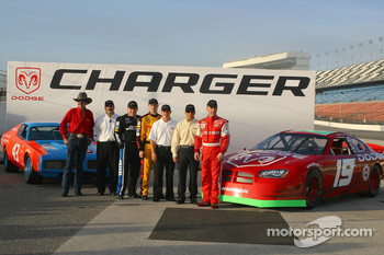 Dodge presentation: Richard Petty, Ryan Newman, Travis Kvapil, Casey Mears, Jamie McMurray and Jeremy Mayfield