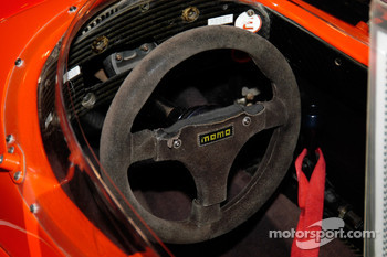 The Dallara's steering wheel