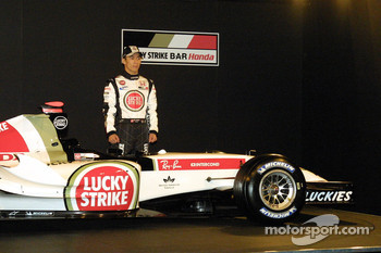 Takuma Sato and the new BAR Honda 007