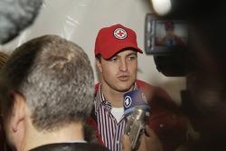 Ralf Schumacher talks to the media