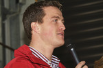 Ralf Schumacher talks to fans during Open Doors