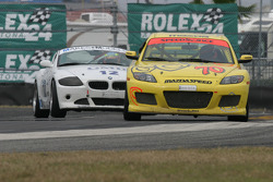 #70 SpeedSource Mazda RX-8: David Haskell, Sylvain Tremblay and #12 TC Kline Racing BMW Z4: Daniel Colembie, David Tuaty