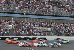 Restart: Tony Stewart leads the field