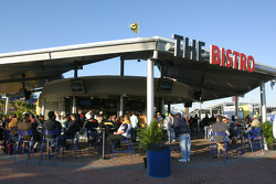 Fans enjoy the Bistro inside the FanZone