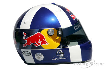 Red Bull Racing photoshoot: helmet of David Coulthard