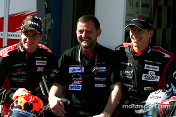 Minardi team launch: Christijan Albers, Paul Stoddart and Patrick Friesacher