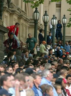 Street parade in Melbourne: Melbourne fans