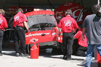Budweiser Chevy crew members at work