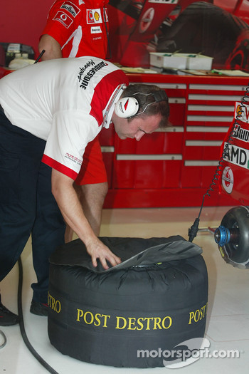 Bridgestone technician at work