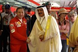 Jean Todt and the king Hamad Bin Isa al Khalifa