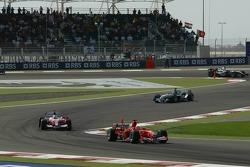 Michael Schumacher and Jarno Trulli