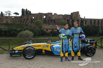 Giancarlo Fisichella and Franck Montagny