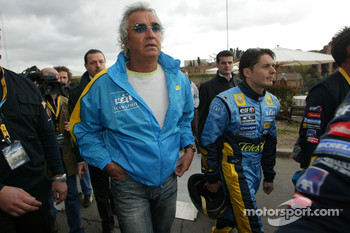 Flavio Briatore and Giancarlo Fisichella