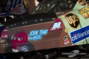 Special paint scheme on the Ford of Dale Jarrett