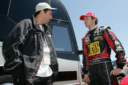 Comedian Adam Sandler and Kasey Kahne