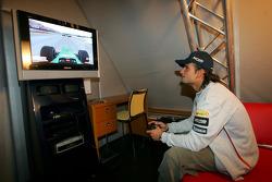 Vitantonio Liuzzi in the 'Red Bull Energy Station'