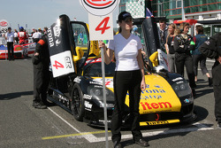Grid girl for the #4 car