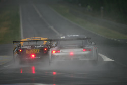 #71 Alex Job Racing Porsche 911 GT3 RSR: Leo Hindery;Mike Rockenfeller;Marc Lieb;#95 Racesport Peninsula TVR Tuscan 400R: John Hartshorne;Richard Stanton;Piers Johnson