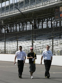 Tiago Monteiro walks the track