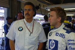 Dr Mario Theissen and Nick Heidfeld