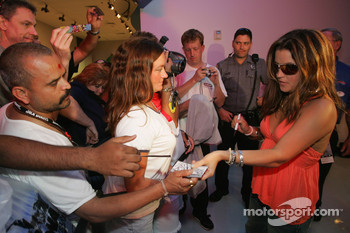 Lisa Marie Presley signs autographs