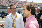 Chairman of Renault Carlos Ghosn and Alain Prost
