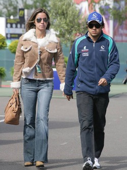 Felipe Massa and girlfriend Rafaella Bassi