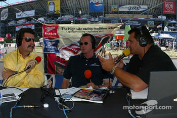 NASCAR President Mike Helton with ESPN radio