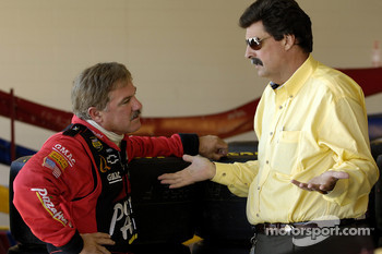 Terry Labonte discusses with NASCAR President Mike Helton