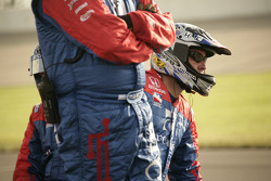 Andretti Green crew members  watch race action