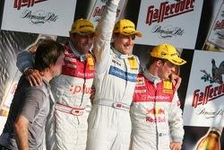Podium: race winner Gary Paffett with Christian Abt and Mattias Ekström